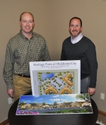 Heritage Point of Oklahoma City will soon open to provide Alzheimer's patients a new living option. David Thompson, left, and Kip Pammenter are behind the innovative project